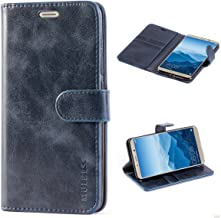 Mulbess Funda Huawei Mate 10 [Libro Caso Cubierta] [Vintage de Billetera Cuero de la PU] con Tapa Magnética Carcasa para Huawei Mate 10 Case, Azul Marino