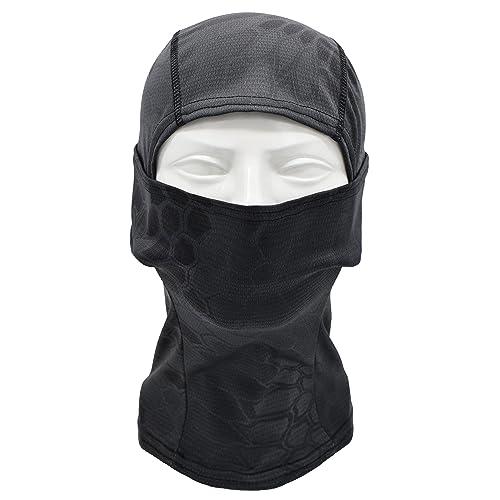 Fancy Dress NEW Senshi Japan's Balacalava  Mask BLACK Adult Size Made Of Stretchy Material