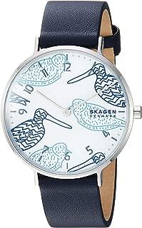 Skagen Aaren SKW2782 - Reloj de cuarzo para mujer (acero inoxidable, correa de piel), color azul