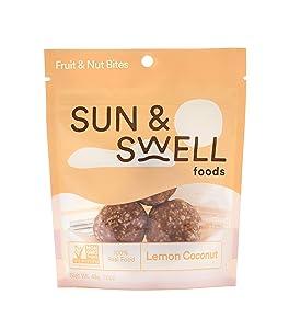 SUN & SWELL FOODS - (6 Pack Organic Gluten Free Snack Lemon Coconut Bites, Vegan, Non-GMO, No Refined Sugar, 100% Clean …