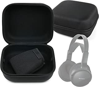 DURAGADGET Estuche Rígido Negro para Auriculares Krom Kyus/Logitech H800 / Sennheiser PXC 550 / Sony MDR-RF811RK - con Asa De Transporte