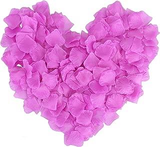 Simplicity 500 Pcs Silk Flower Rose Petals Wedding Party Decoration, Purple