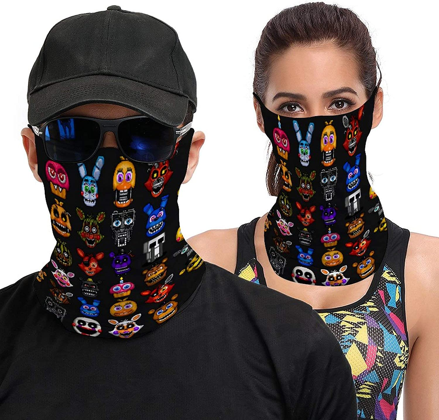 Five Nights at Freddy's Neck Gaiter Protection face Bandana Breathable Cover Balaclava for Sports Sun Protection