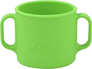 green sprouts Learning Cup | Silicone helps avoid harmful chemicals | Helps toddler develop independent drinking skills, 2 easy-grip handles, Heat-Resistant, Dishwasher Safe