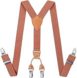 Toddlers Boys Mens Adjustable Suspenders - Y Back Heavy Duty Suspenders for School Uniforms Tuxedos