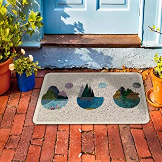 "Prime Leader Indoor Outdoor Doormat Marble Landscape Oil Painting 18"" x 30"" Dirt Trapper Mats with Rubber Backing for Front/Back Door&High Traffic Area Easy Clean"