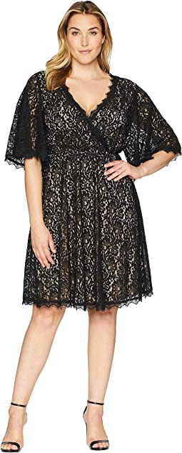 Plus Size Beatrice V-Neck Lace Dress