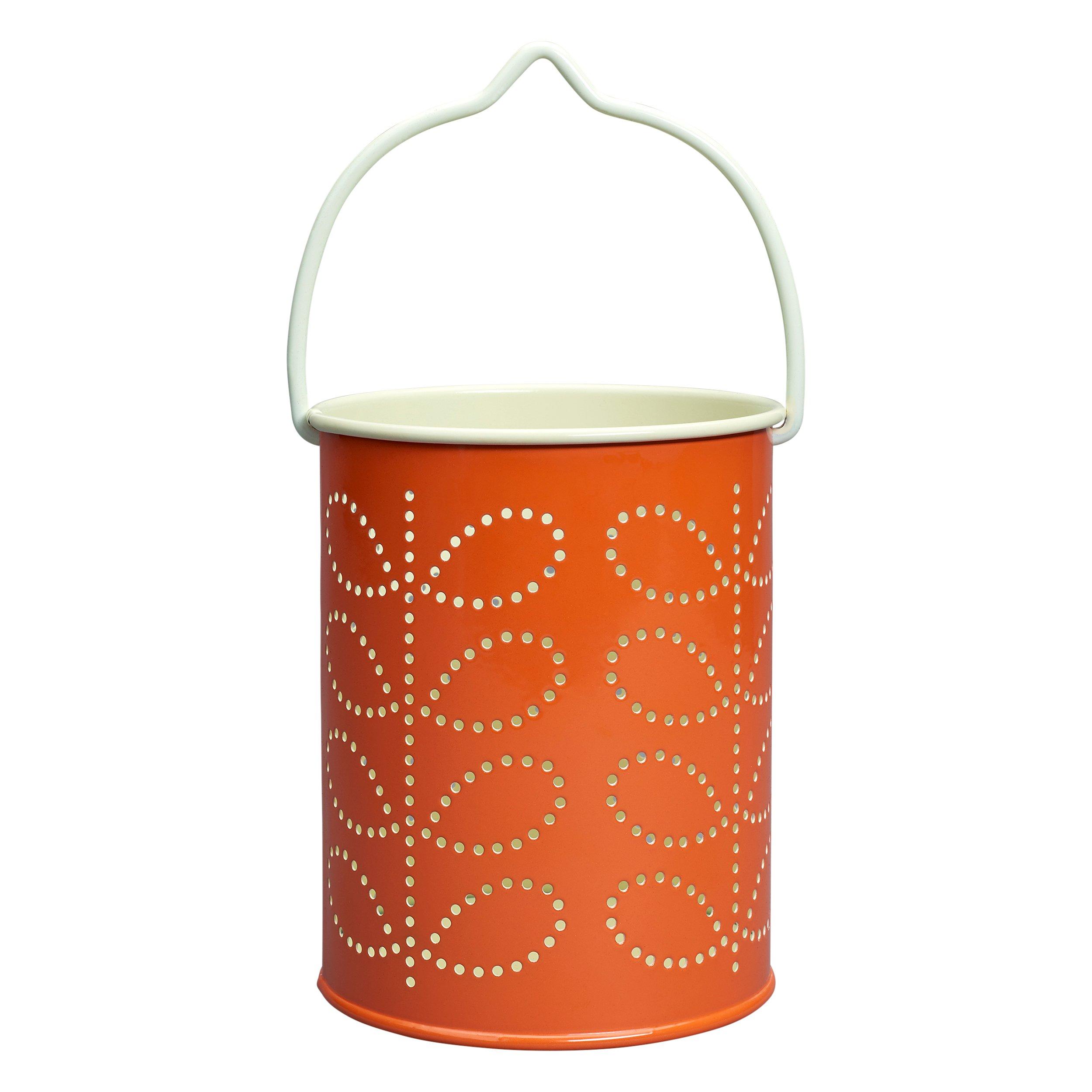 Orla Kiely /Color Naranja Farol con dise/ño de Tallos para Velas de t/é/