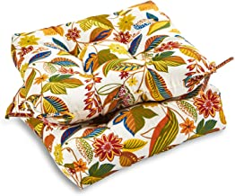South Pine Porch AM6800S2-SKYMULTI Esprit Floral Outdoor 20-inch Seat Cushion, Set of 2