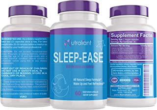 #1 Sleep Aid Supplement Pills + Melatonin, Valerian, Vitamin B6, Chamomile, Magnesium + All Natural Non Habit Forming Sleeping Pill Works Fast - Mood Support, Anxiety & Insomnia Relief - 60 Capsules
