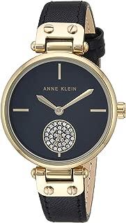 Women's Swarovski Crystal Accented Leather Strap Watch