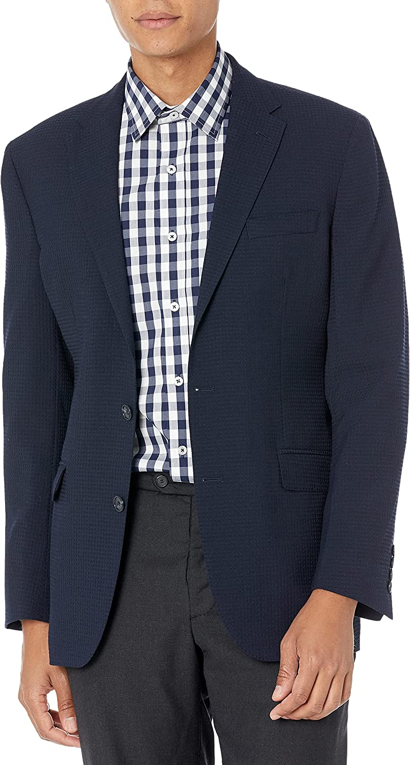 Max 46% OFF online shopping Kenneth Cole New York Men's Textured Waffle Blazer Weave