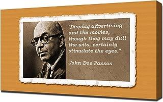 John Dos Passos Quotes 4 - Canvas Art Print