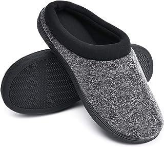 دمپایی فومی مموری دنج TEMI ، دمپایی اتاق خواب نرم و گرم برای مردان با کفش های لاستیکی ضد لغزش در فضای باز