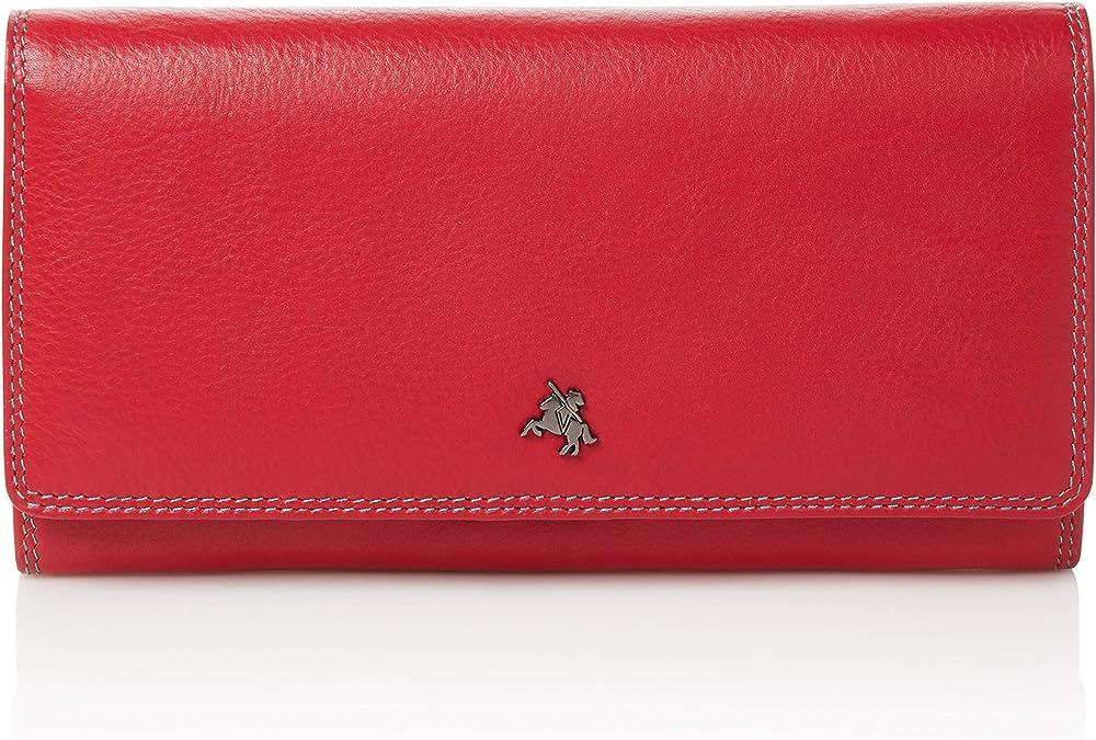 Visconti, portafoglio in pelle multicolore da donna, porta carte di credito SP36