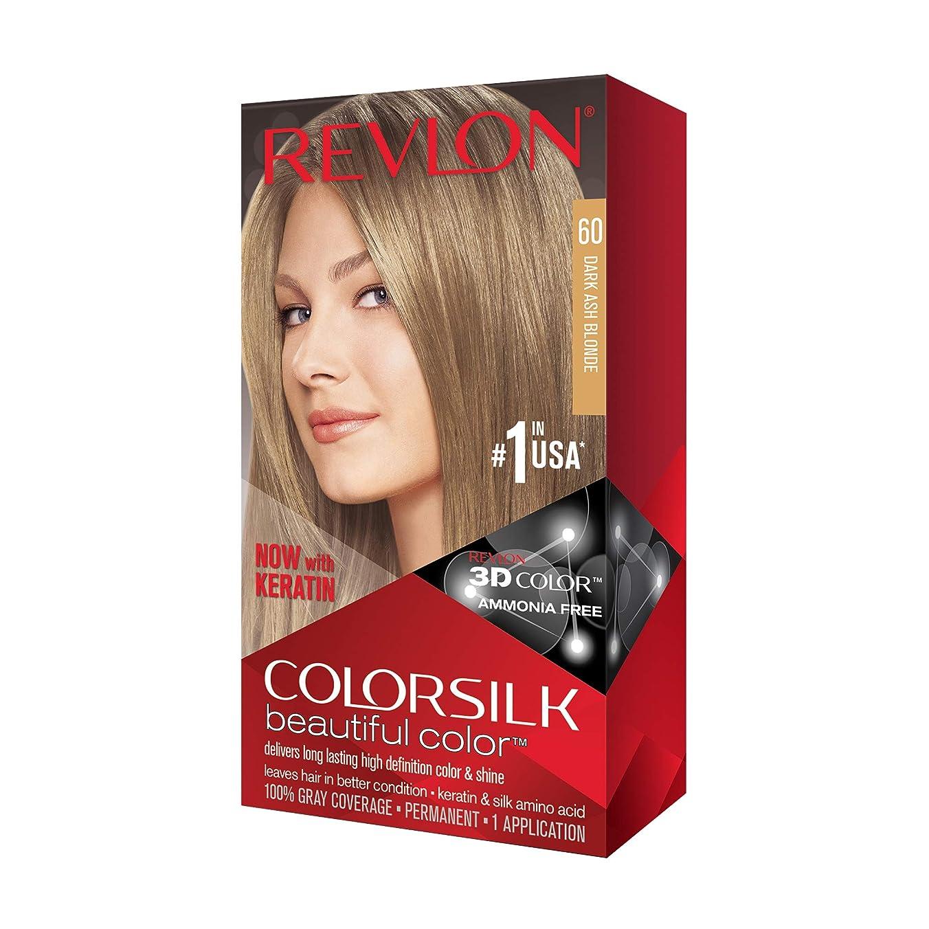 崩壊ミキサーバッジRevlon Colorsilk Haircolor #60 Dark Ash Blonde 6A (並行輸入品)