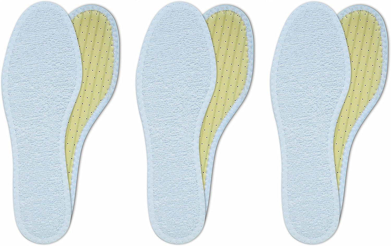 Lenzen 3 Pairs Washable Ultra-Cheap Deals Cotton unisex Terry Breathable Insoles B Shoe I