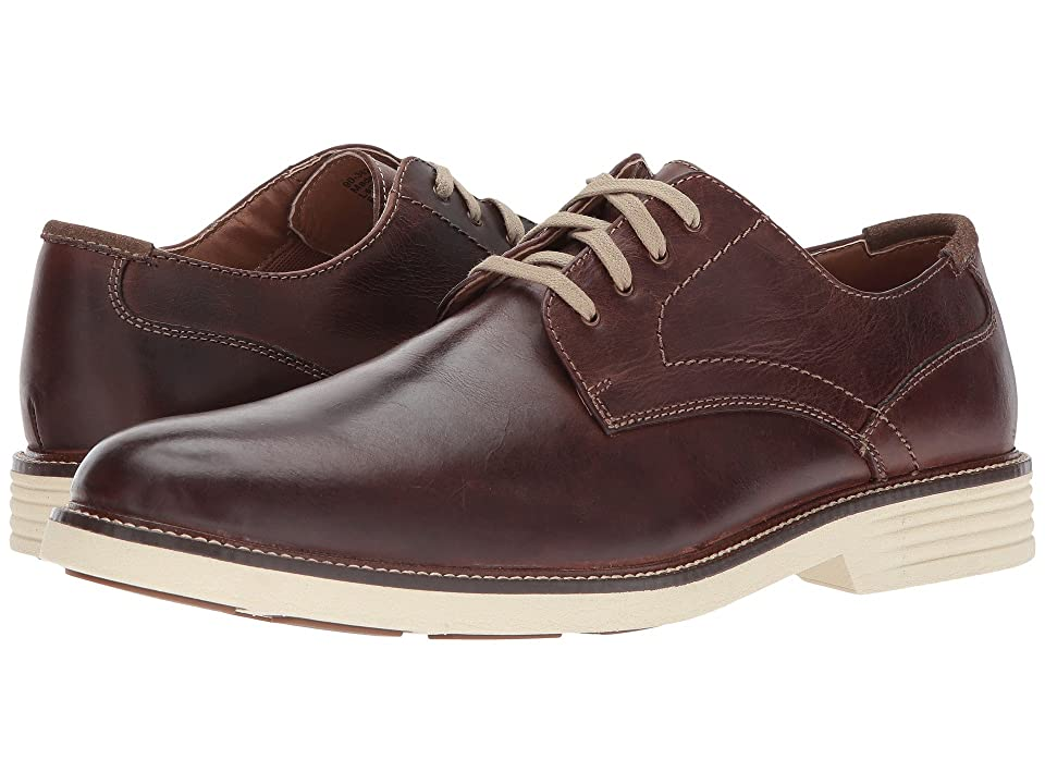 Dockers Parkway Plain Toe Oxford (Red/Brown Waxy Distressed Burnished Full Grain) Men