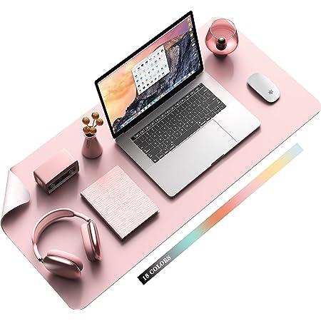 Multifunktionales Office Mauspad Ysagi 80x40 Cm Wasserdichte Schreibtischunterlage Aus Pu Leder Ultradünnes Mousepad Rutschfeste Schreibtischmatte Für Büro Und Zuhause Pink Single Bürobedarf Schreibwaren
