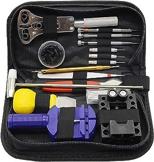 Emsmil Kit Réparation Montre Outil 147 Pièces Professionnel Ensemble d'outils de Barre de Ressort pour Ajuster Bracelet et...