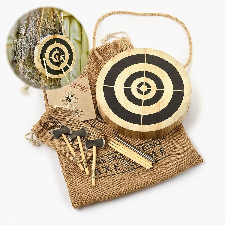 HALUWY Viking Axe Throwing Target Game Outdoor Darts Board Set M
