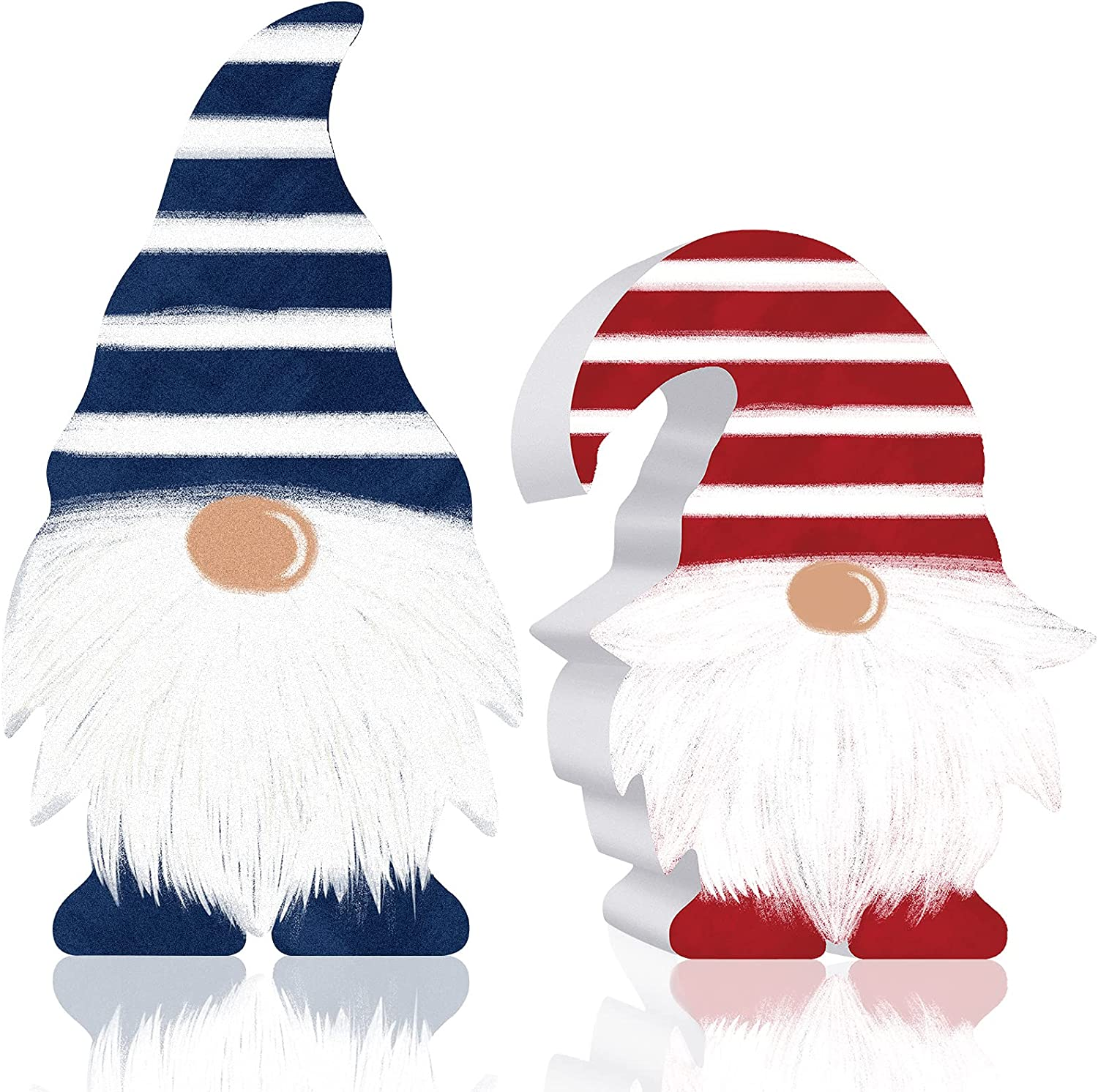 High material 2 Pieces Patriotic Gnome Scandinavian Sign Elf Wooden Deco Now free shipping