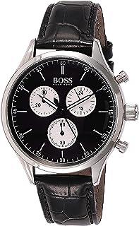 ساعة انالوج كاجوال للرجال من هوجو بوس بسوار جلدي - 1513543
