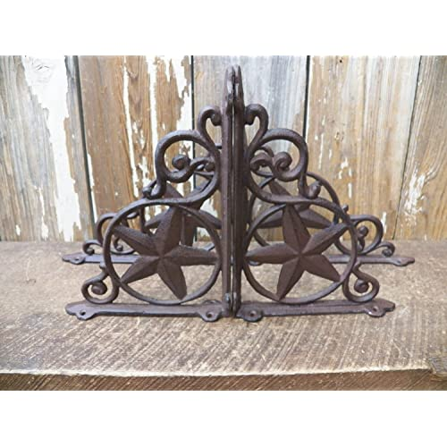 Antiques Set of 4 Cast Iron Shelf Brackets New Antique-Style FANCY 9 1/2 x 9 1/2