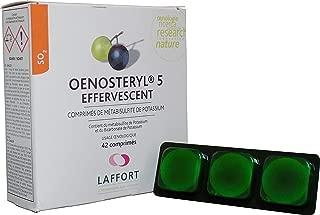 LAFFORT OENOSTERYL 5 (Effervescent) - Preventivo y curativo de Las Enfermedades del Vino para conservación vinos Blancos y tintos - Caja 42 Comprimidos 5 g.