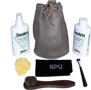 IEXI Sneakers Care Kit - Secchiello viaggio o regalo Set 7 pezzi per la cura Sneakers in pelle e/o materiali misti contene...