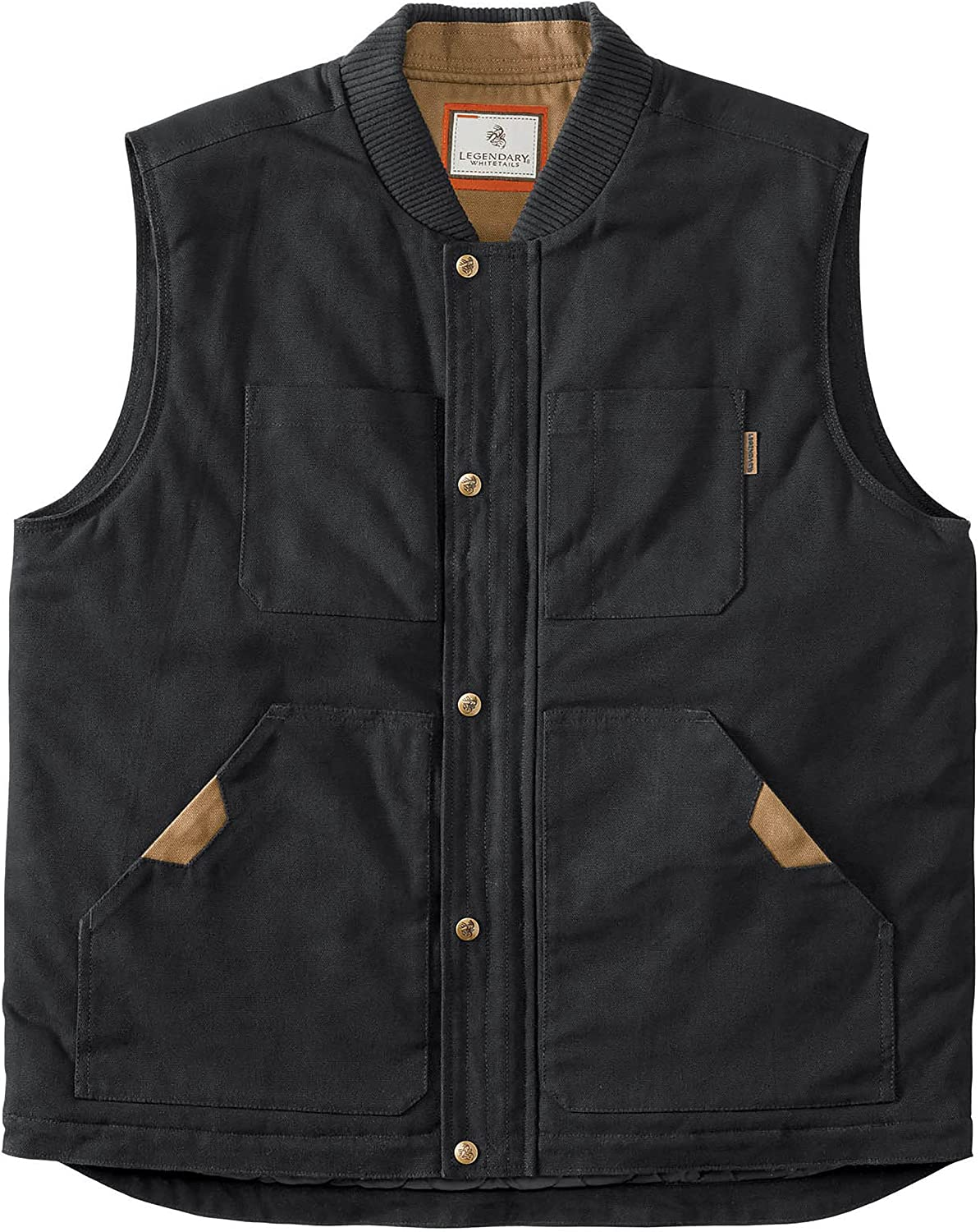 Legendary Whitetails Men's Conceal and Carry Canvas Crosstrail Vest: Clothing