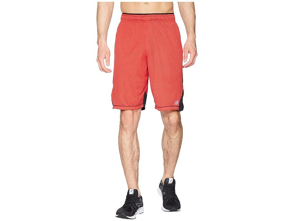 New Balance Tenacity Knit Shorts (Team Red/Black) Men