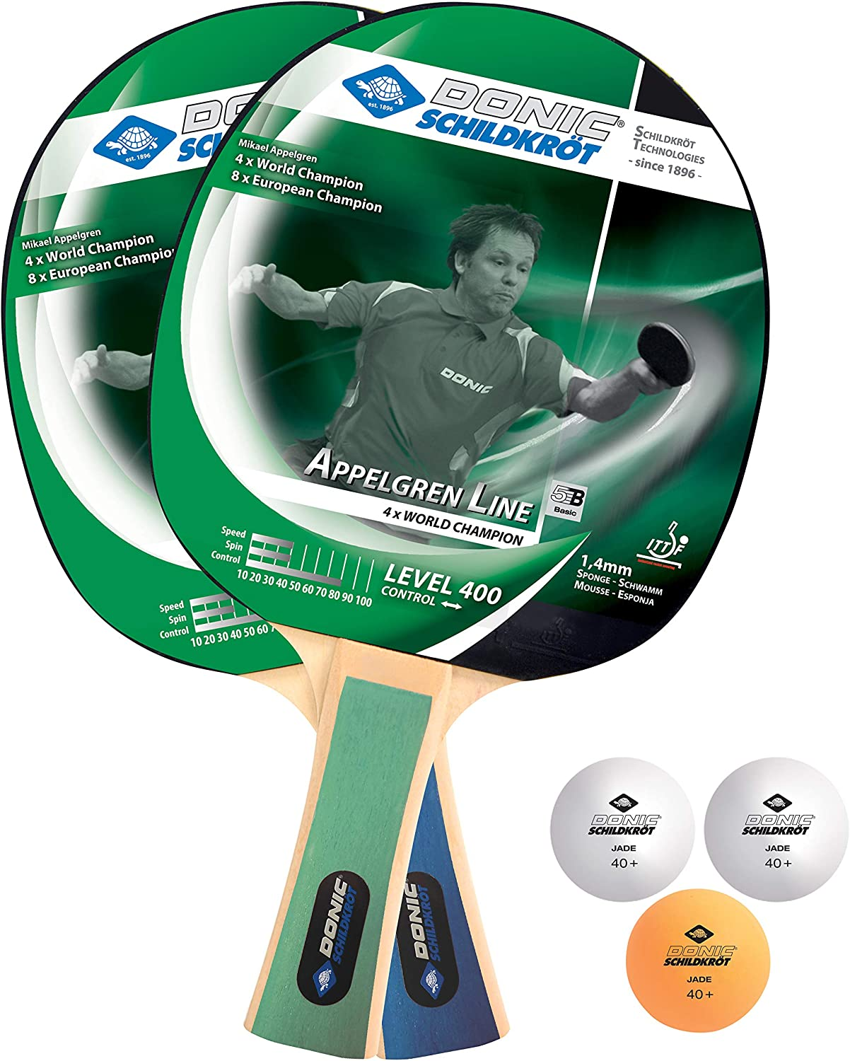 Donic-Schildkröt Appelgren 400 Table Tennis Free shipping Free shipping on posting reviews New Bats 1.4 Set 2