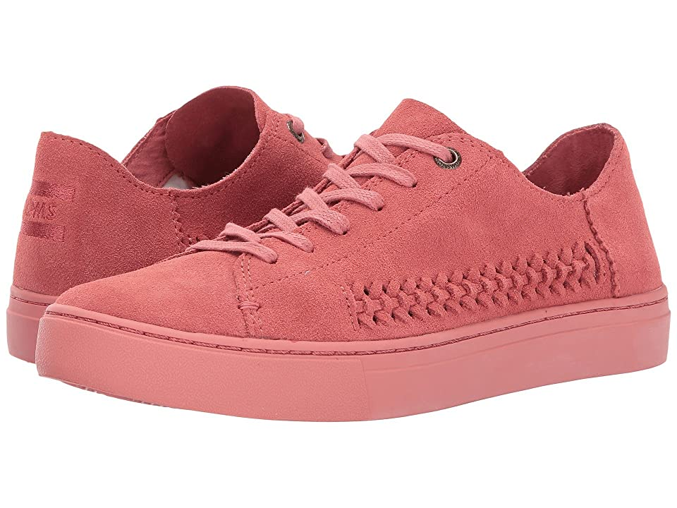 TOMS Lenox Sneaker (Faded Rose Monochrome Deconstructed Suede/Woven Panel) Women