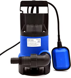 Submersible Clean/Dirty Water Pump, Great for Outside Swimming Pools, Ponds, or Indoor Basements and Floods | 3/4 HP | Utility