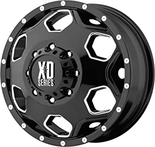 XD SERIES BY KMC WHEELS BATALLION DUALLY GLOSS BLACK W/MILLED ACCENTS BATALLION 22x8.25 8x165.10 DUALLY GLOSS BLACK W/MILLED ACCENTS (127 mm) AUTOMOTIVE WHEEL