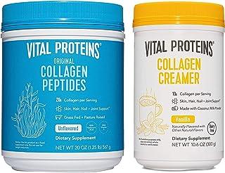 Vital Proteins Collagen Peptides Powder 20oz + Collagen Coffee Creamer Vanilla 10.6oz