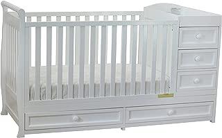 Athena Daphne Convertible Crib and Changer, White