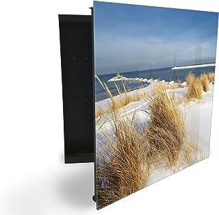 140851696 Armoire à clés avec façade en verre magnétique 30 x 30 cm