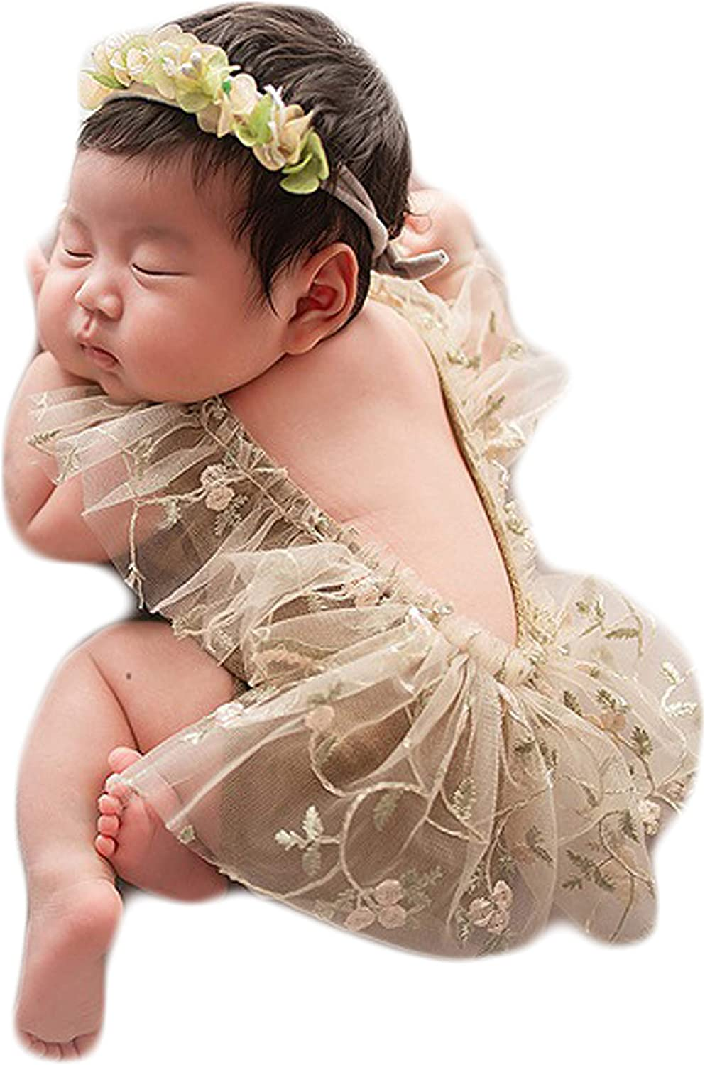 Baby Photography Props Lace Rompers Newborn Photo Shoot Outfits Infant Girl Photos Costume