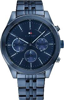Tommy Hilfiger Men'S Blue Dial Ionic Plated Dark Blue Steel Watch - 1791739