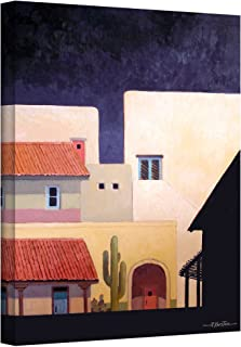 Art Wall Adobe Village Forms Gallery Wrapped Canvas Art by Rick Kersten, 24 by 18-Inch