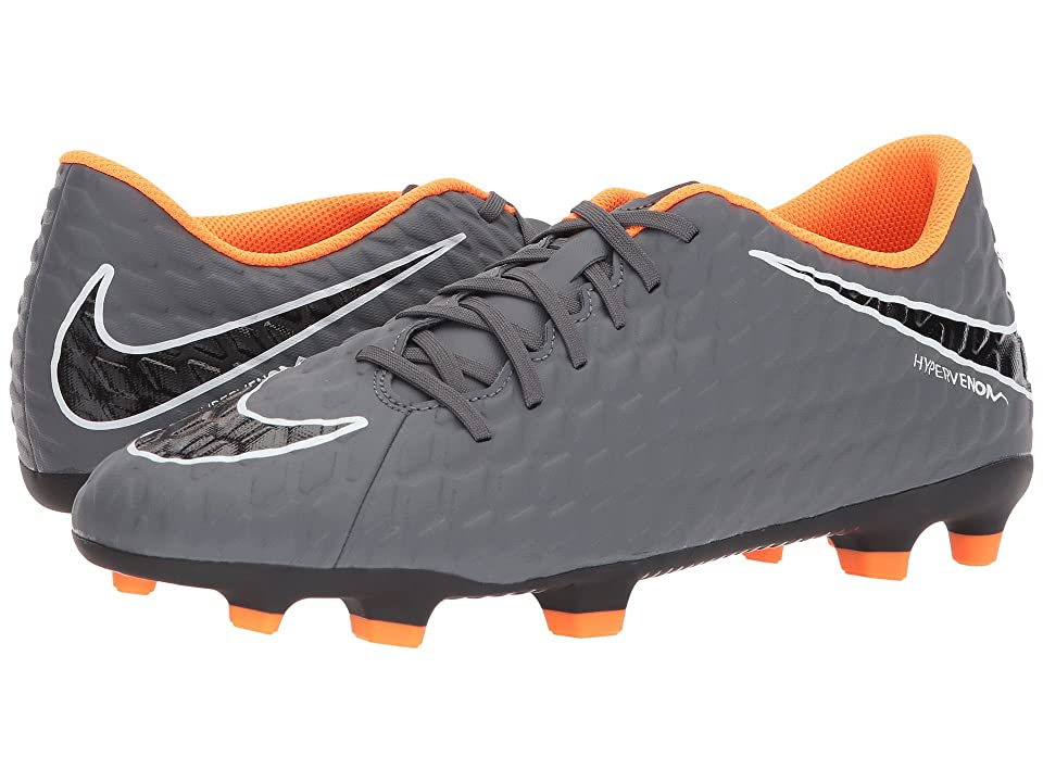 Nike Hypervenom Phantom 3 Club FG (Dark Grey/Total Orange/White) Men's Soccer Shoes