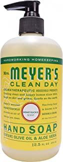 Mrs. Meyer's Clean Day Hand Soap Liquid, Honeysuckle, 12.5-Fluid Ounce Bottles by Mrs. Meyer's Clean Day