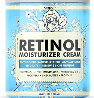 Premium Anti-Aging Face Moisturizer for Women - Pure Retinol Cream with Firming and Anti-Wrinkle Effect that Really Works - Effective Face Care for Women, 3.4 oz