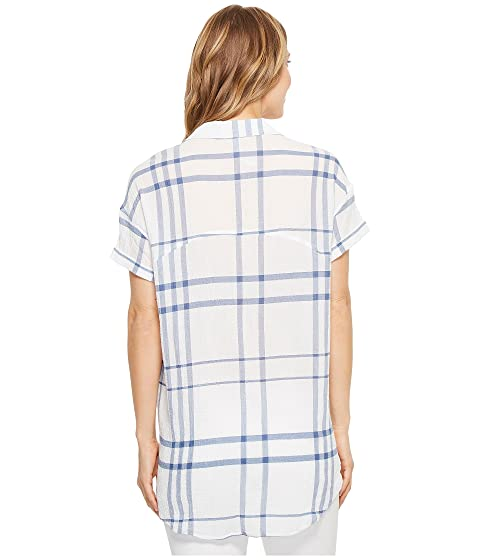 Azul Camisa Liverpool Cuadros Blanco A Redondeada nABZx8Aqw4
