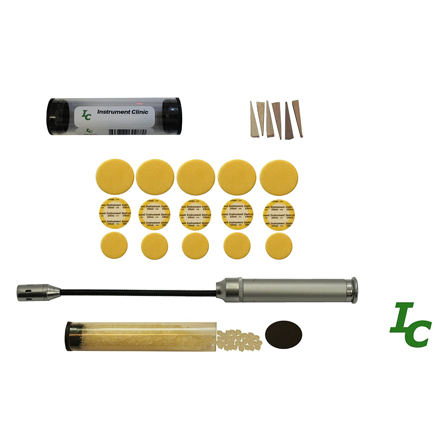 Instrument Clinic Piccolo Pads, with Installation Kit, Please Email Your Pad Diameters