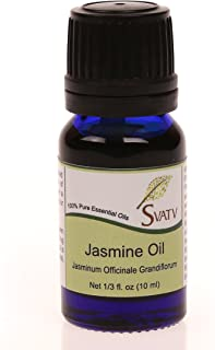 SVATV Jasmine (Jasminum officinale grandiflorum) Essential Oil 10 mL (1/3 oz) 100% Pure, Undiluted, Therapeutic Grade
