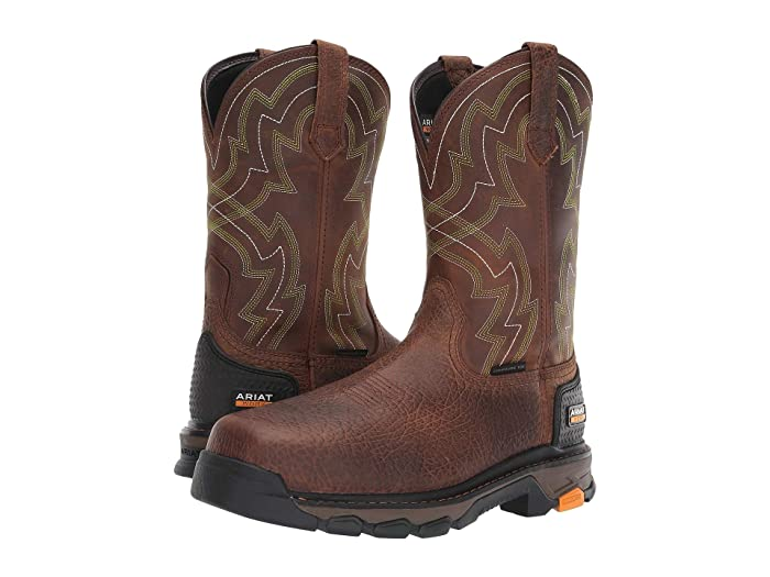 Ariat  Intrepid Force Composite Toe (Distressed Brown) Mens Work Pull-on Boots