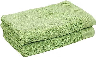 Maspar Embedded Stripe Green Towel